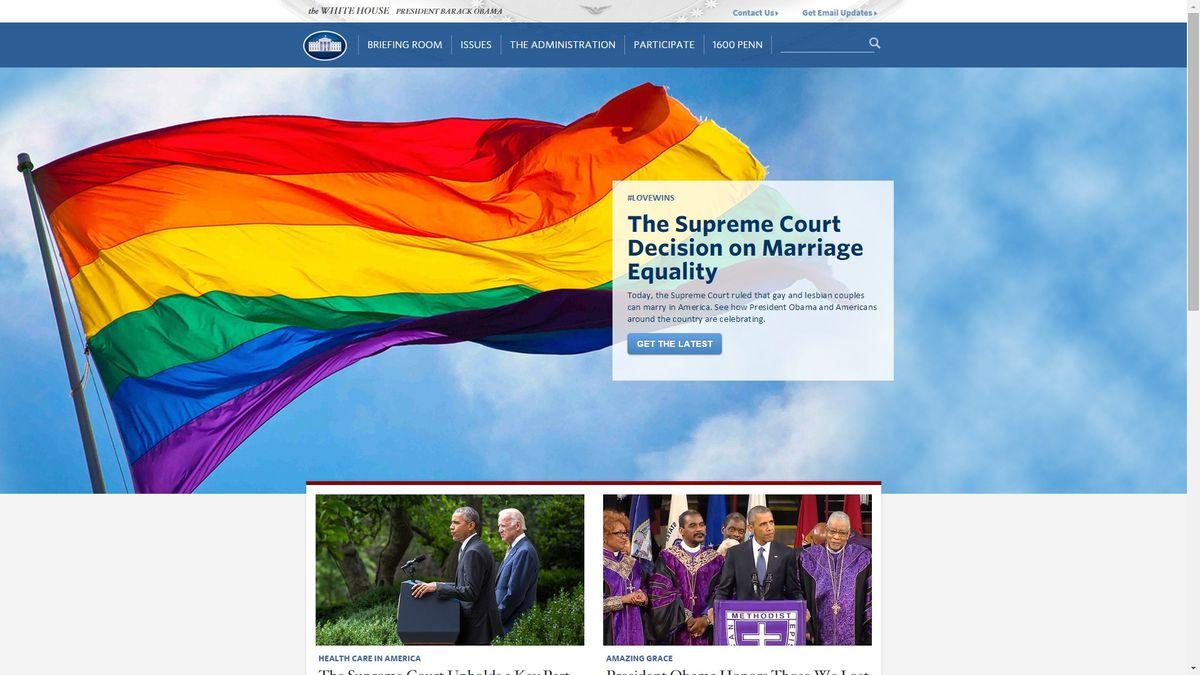 白宮網站高掛彩虹旗