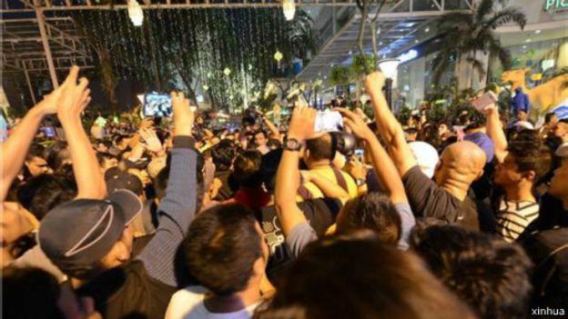 「劉蝶廣場」事件的事發現場。(BBC中文網)