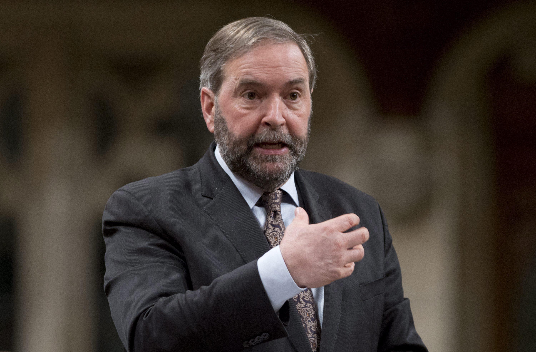 加拿大新民主黨領導人馬爾凱(Thomas Mulcair)(美聯社)