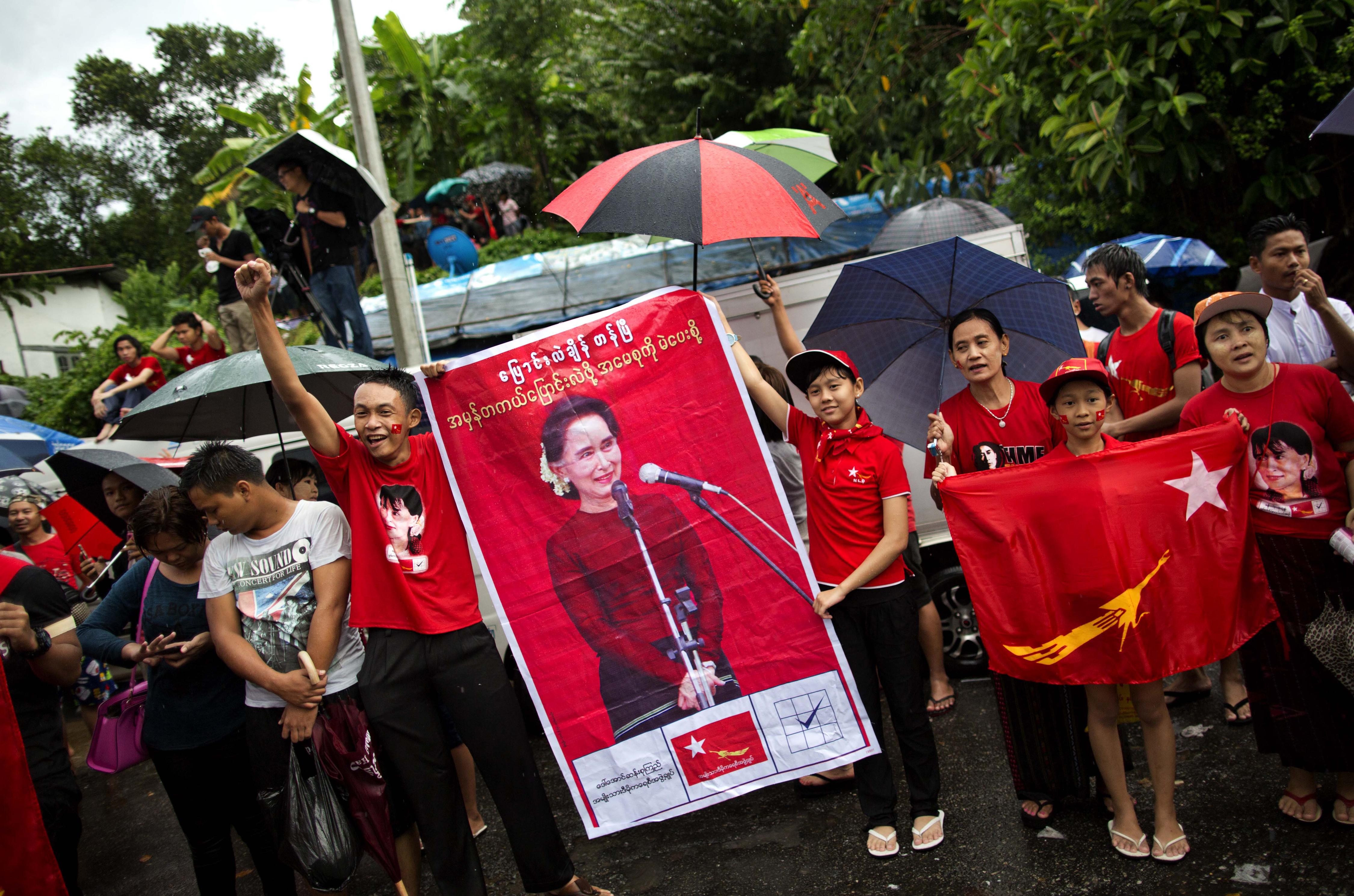 緬甸大選。(美聯社)