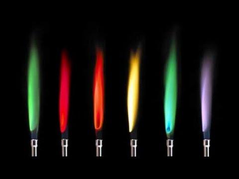 不同金屬在高溫燃燒下會放出不同色光。(圖/ChemArena@Youtube)