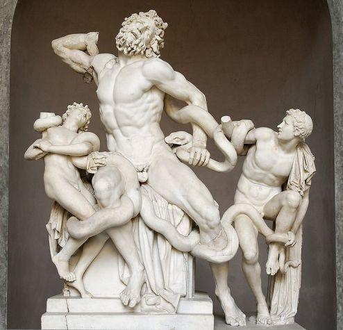 拉奧孔群雕(Laocoön and His Sons),梵蒂岡博物館藏。