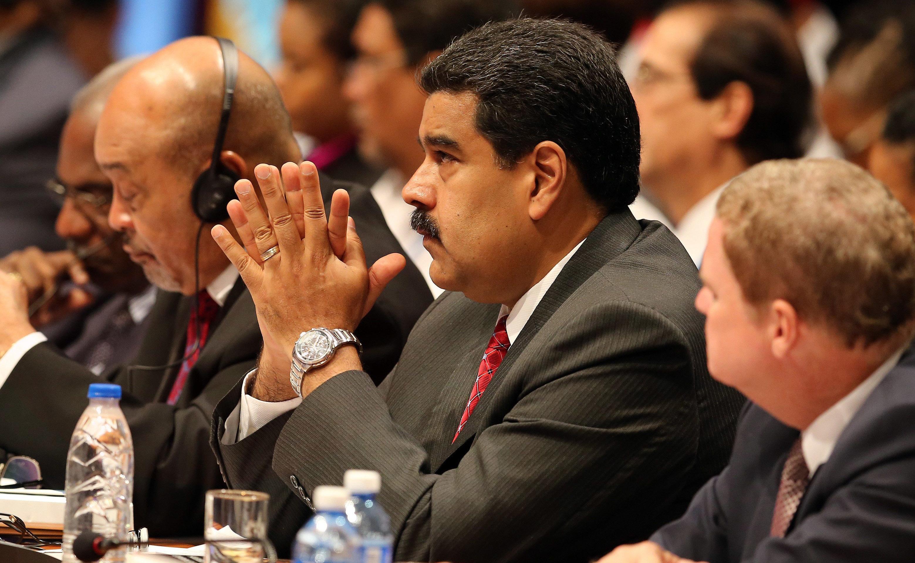 委內瑞拉總統馬杜洛4日到哈瓦那參加中美洲加勒比海峰會。(美聯社)