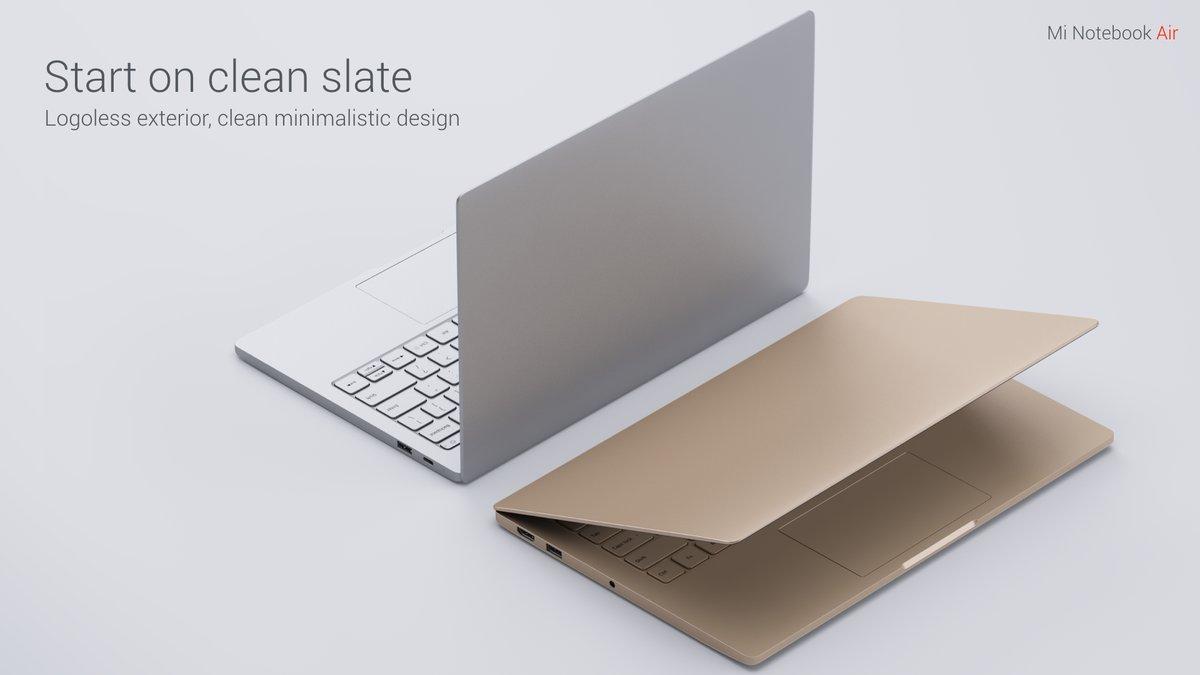 小米筆記本Air外觀與MacBook Air高度相似。(翻攝小米推特)