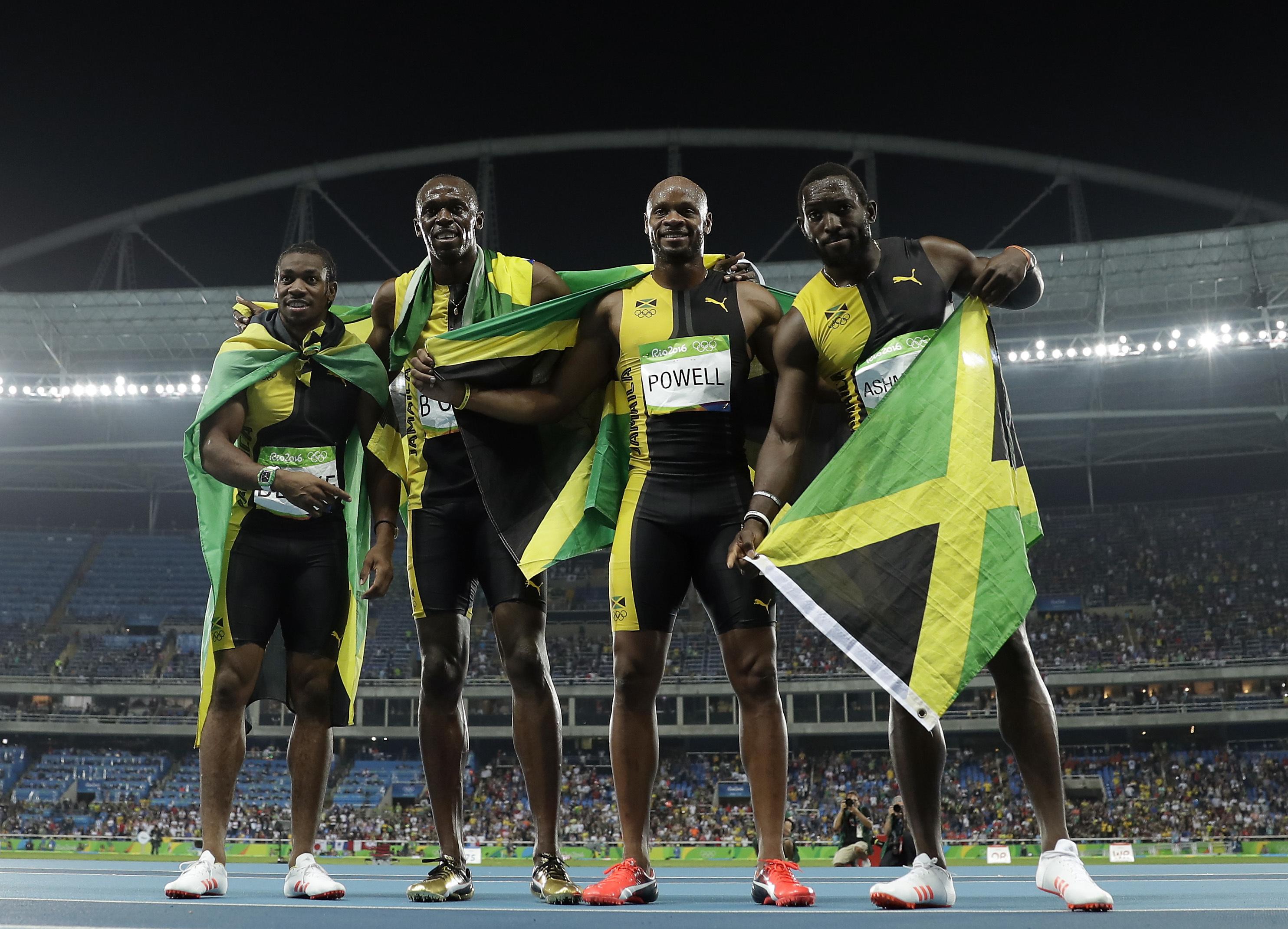 牙買加在里約奧運男子400公尺賽跑奪金。(美聯社)