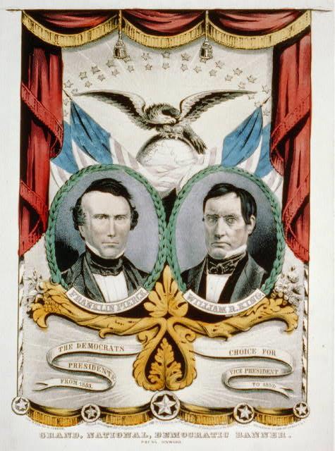 皮爾斯與競選搭檔威廉.魯福斯.金在總統大選的文宣(Wikipedia/Public Domain)