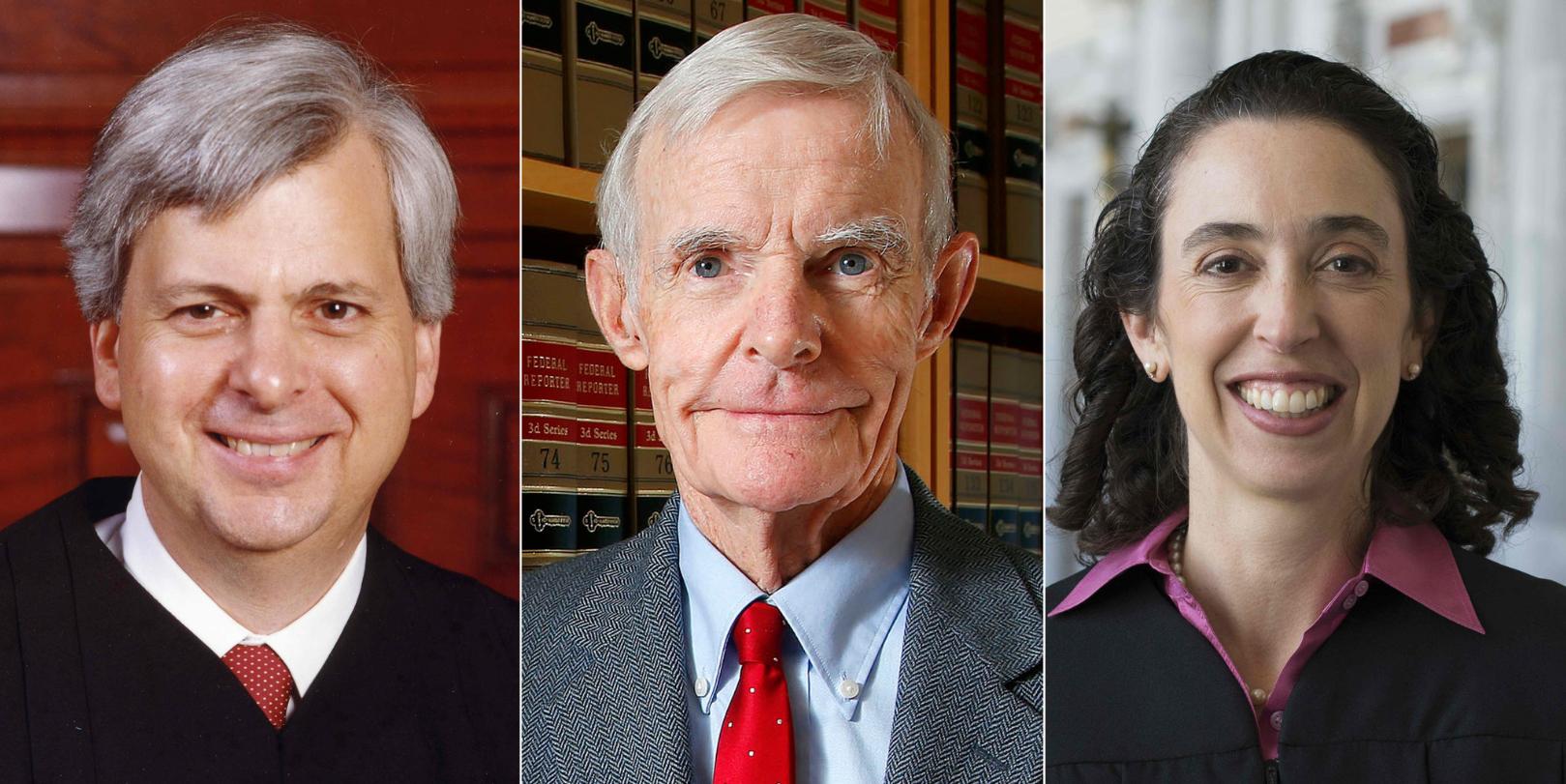 川普穆斯林禁令,審理上訴案的3名法官(由左而右):克利夫頓、坎比、佛列蘭德(AP)