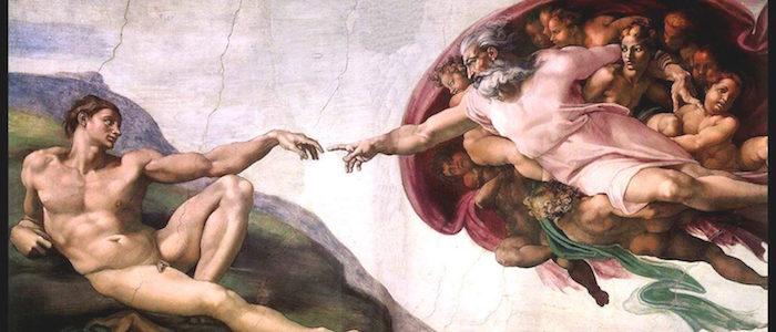 義大利羅馬卡拉瓦喬足跡:米開朗基羅在西斯汀教堂的畫作(取自wikipedia)