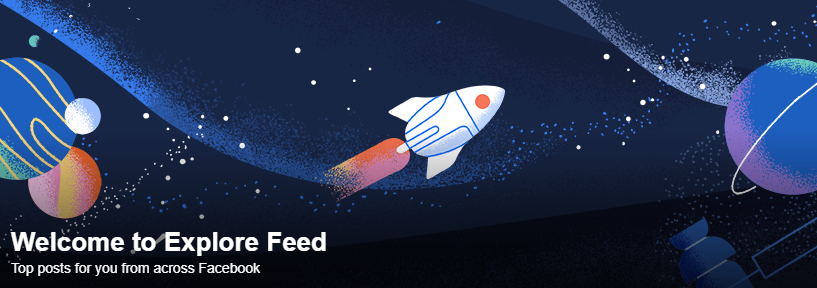 臉書推出新功能「動態探索」(Explore Feed)(翻攝網路)