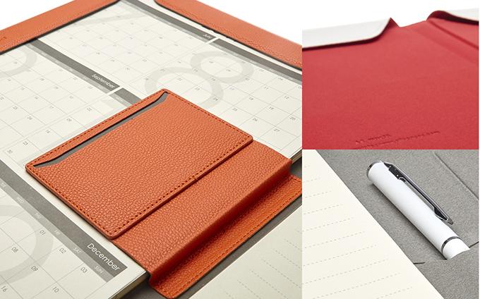 NoteBook Modular內部擁有名片夾與文具收納夾層。(圖/玩轉科技提供)
