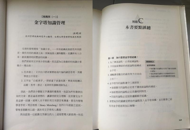 目錄、推薦序與最後一章(圖/侯智薰 提供)