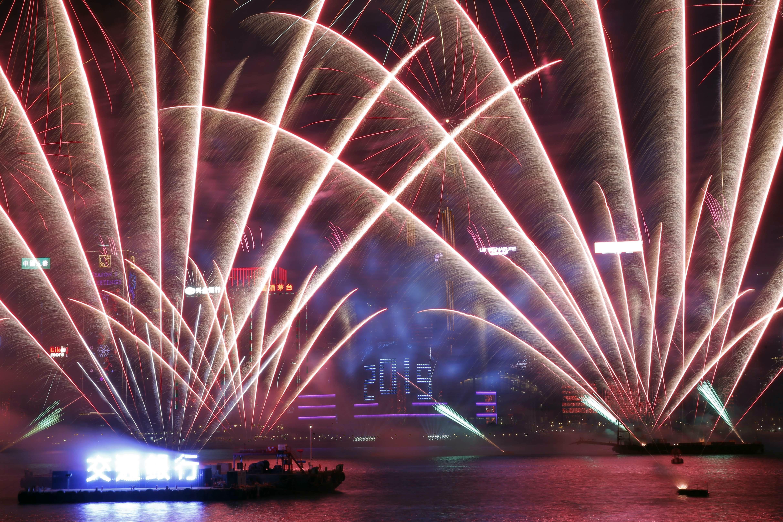 2018/2019跨年煙火,香港(AP)