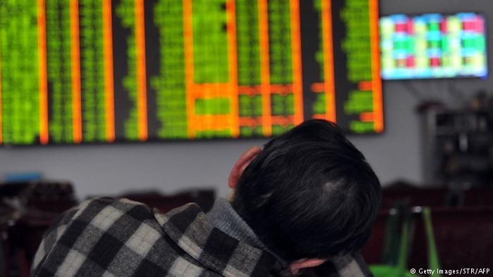 同花順數據顯示,在中國A股市場,去年94%股民虧損,6%股民盈利(DW)