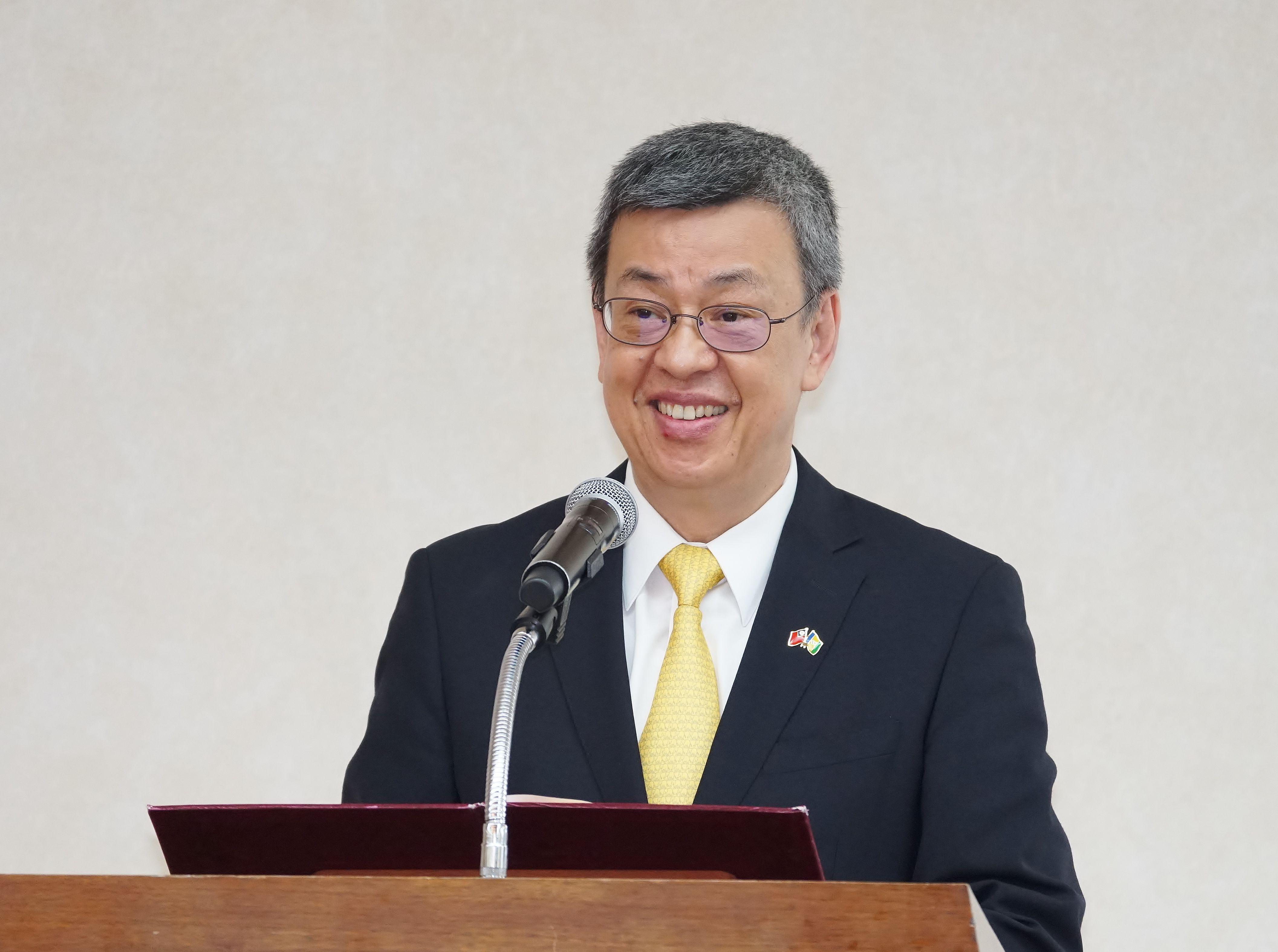 20190808-聖文森駐台大使館揭牌典禮,副總統陳建仁出席。(盧逸峰攝)