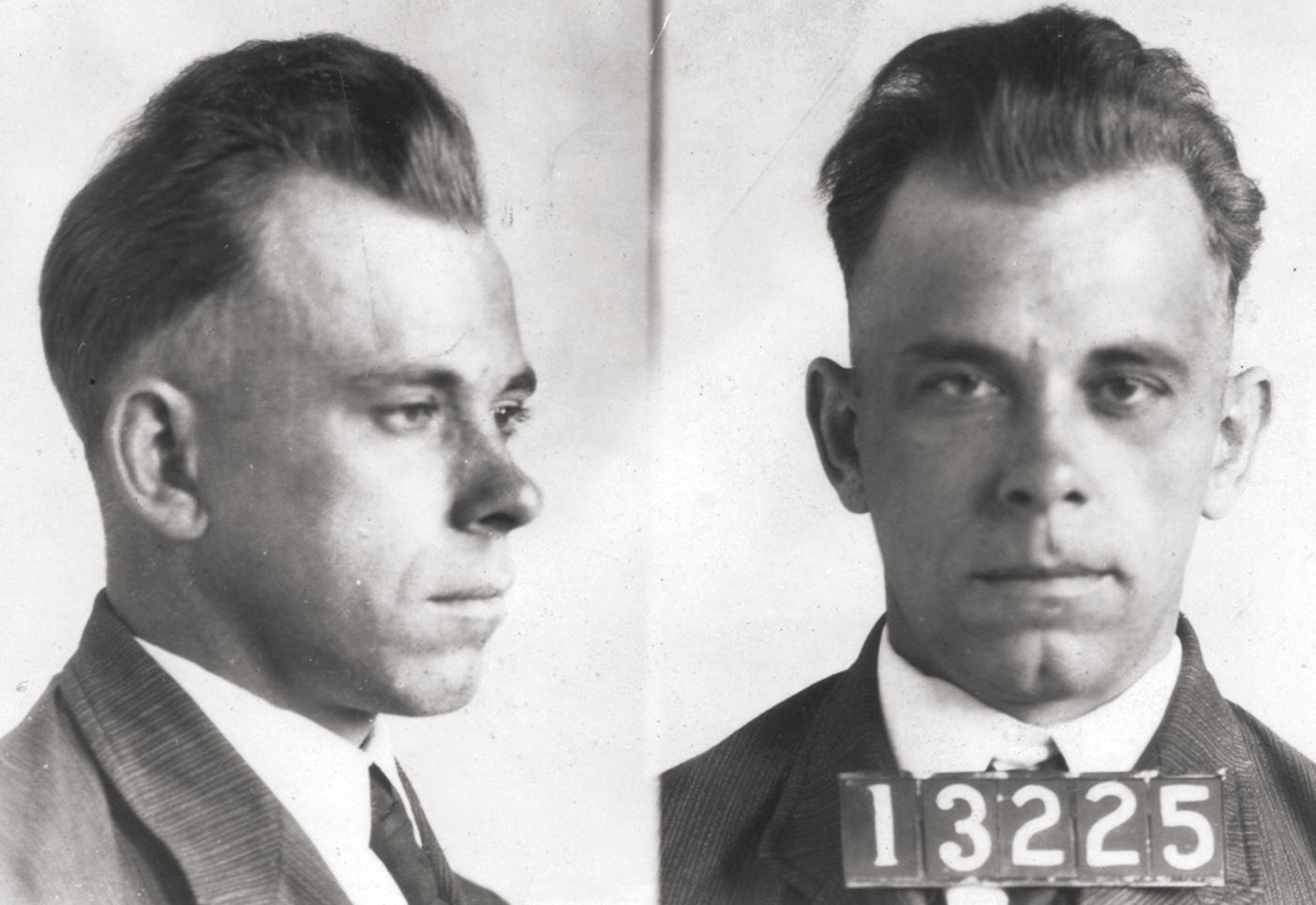 美國20世紀初年的「頭號全民公敵」──銀行大盜迪林傑(John Dillinger)(FBI)