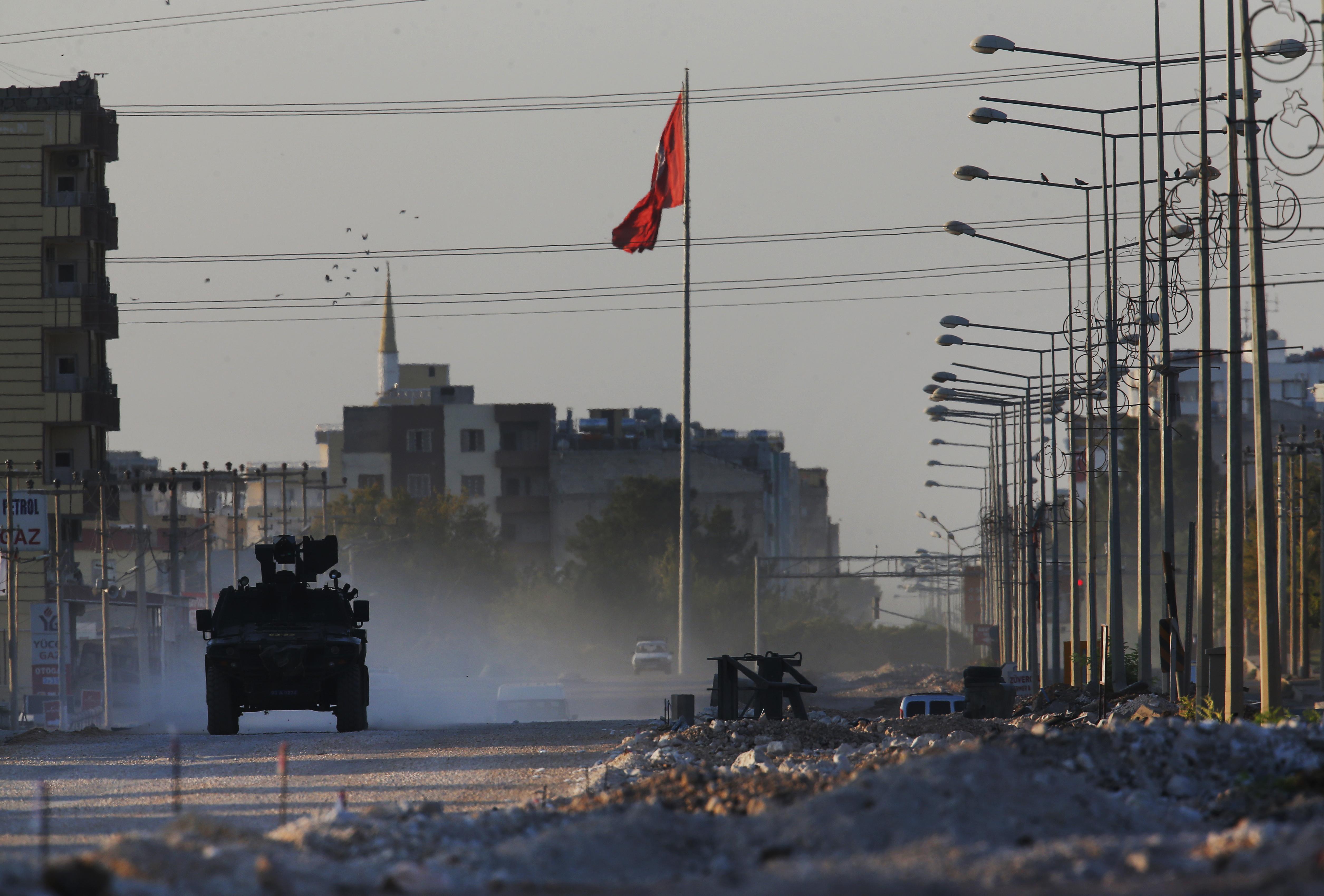 2019年10月,土耳其與敘利亞東北部庫德族的戰事再起(AP)
