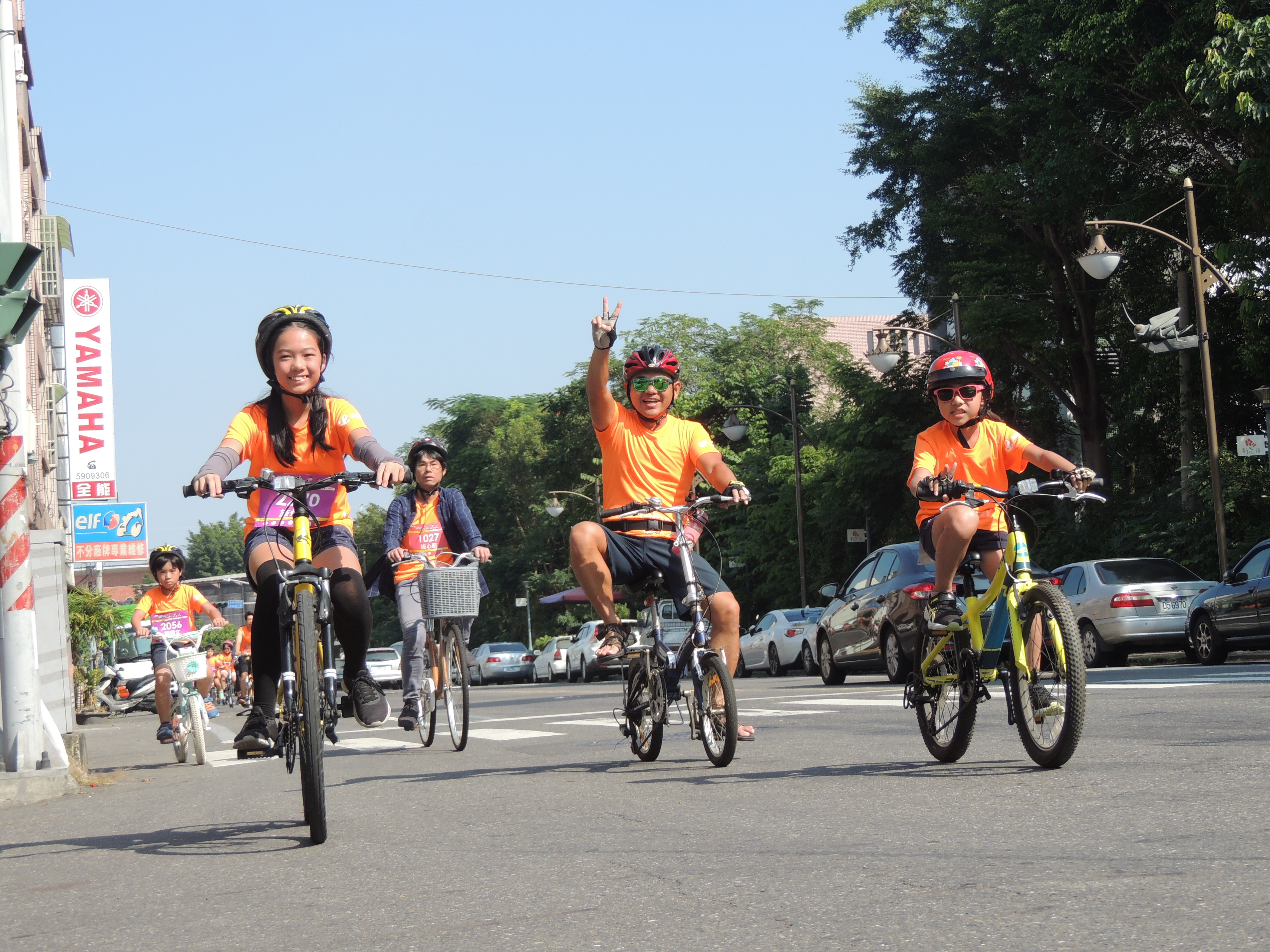 活動規畫了10K單車路線,一路往新化老街前進,讓民眾邊騎車邊欣賞農村景緻。(圖/徐炳文攝)