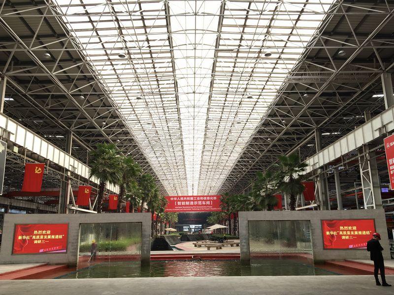 三一重工自動化程度最高的長沙「十八號」廠房正在實施產能擴建工程。(新華社)