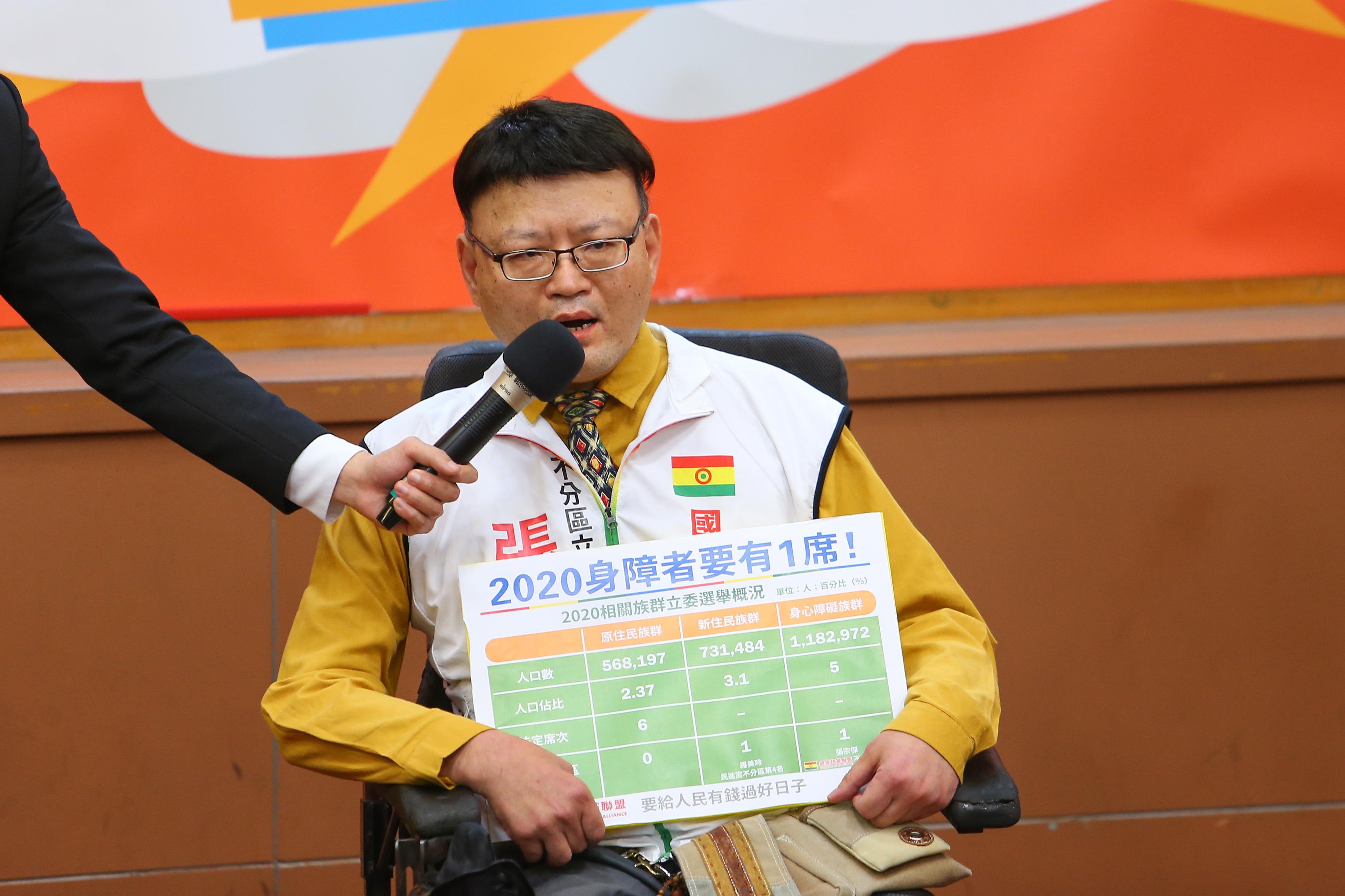 20191214-國會政黨聯盟代表張宗傑14日出席中華辯論推廣協進會舉辦政黨票辯論會。(顏麟宇攝)
