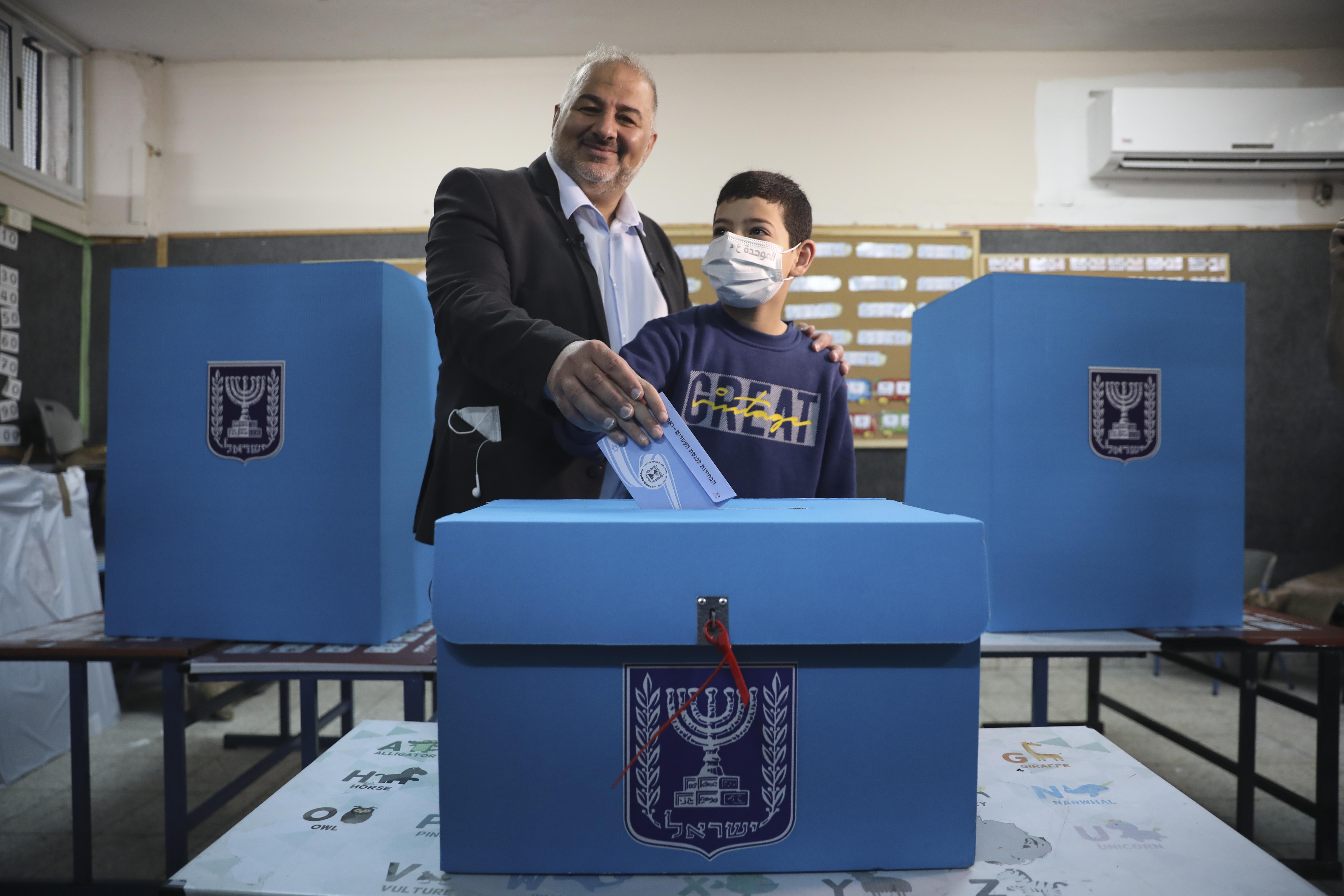 以色列「阿拉伯聯合黨」(United Arab List,Ra'am)領導人阿巴斯(Mansour Abbas)(AP)