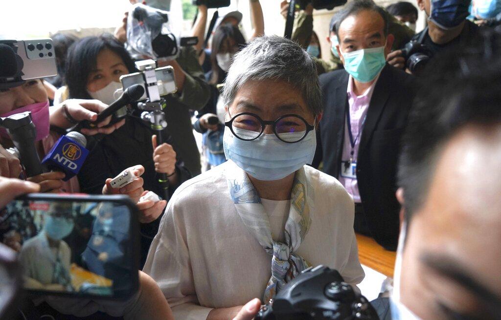 香港多位民主派人士被控參與非法集結,圖為被告之一的立法會法律界前議員吳靄儀。(美聯社)