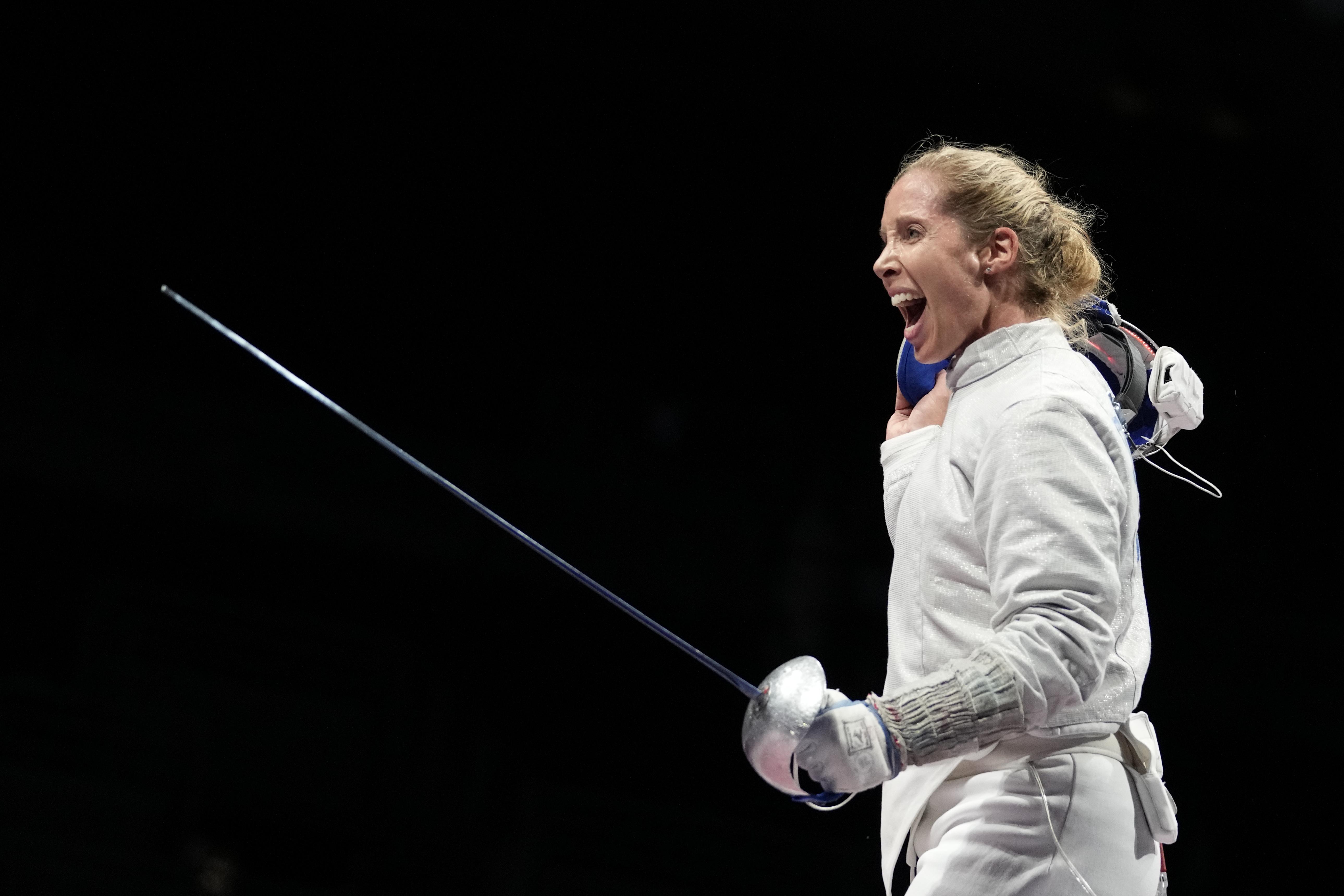 2020年東京奧運,女子擊劍美國代表隊選手(AP)
