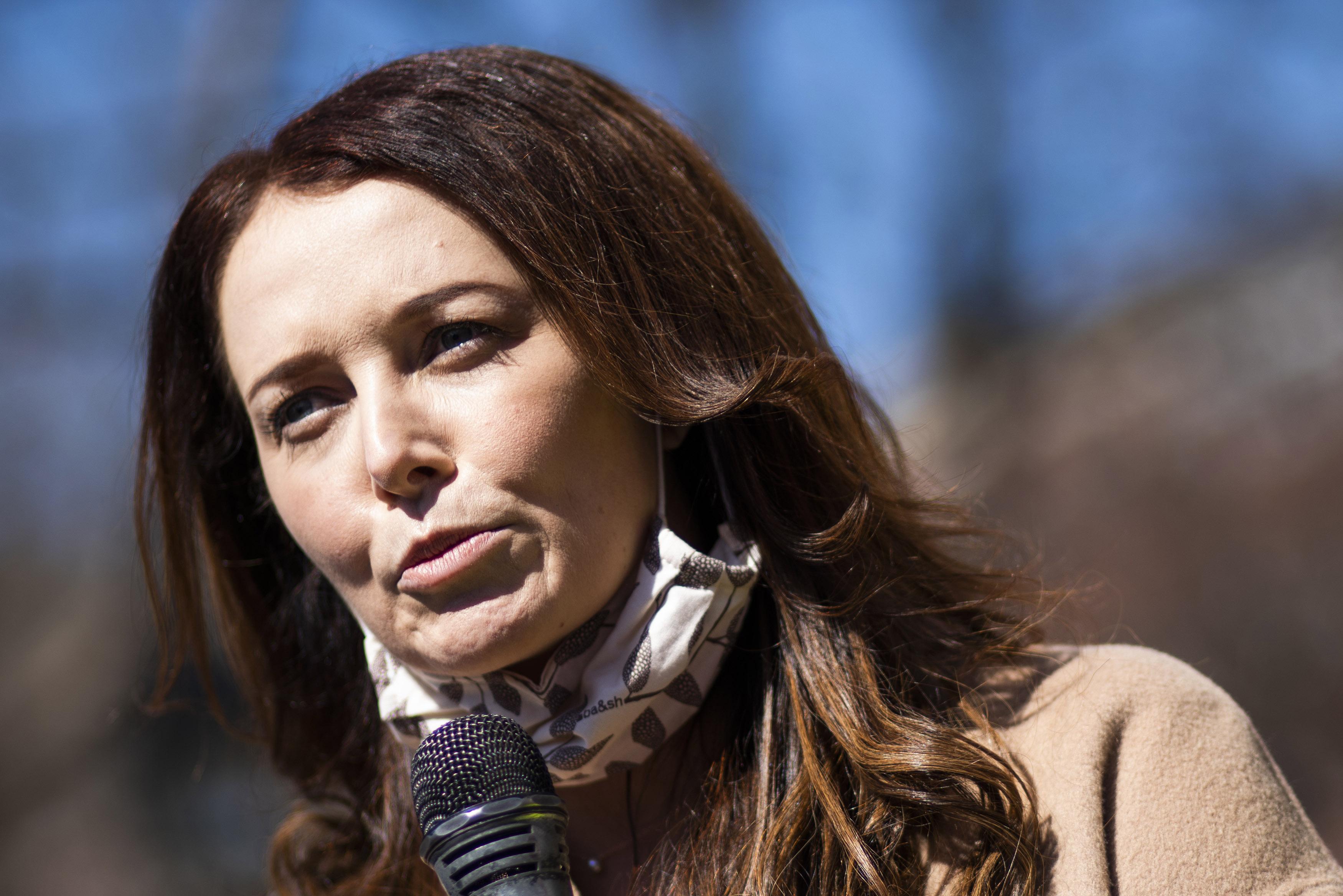 紐約州州長郭謨(Andrew Cuomo)性騷擾案受害者波伊蘭(Lindsey Boylan)(AP)