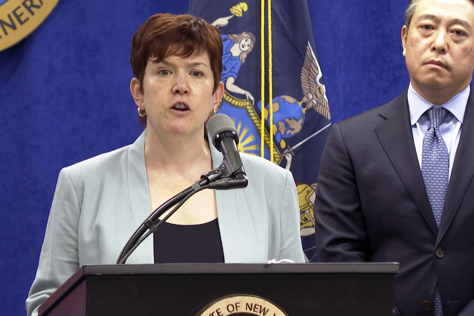 2021年8月3日,紐約州州長郭謨(Andrew Cuomo)性騷擾案調查報告,負責調查的律師克拉克(Anne Clark)(AP)
