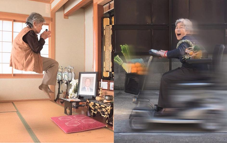 還以為是受虐老人!90歲日本阿嬤學會攝影、P圖後就沒有極限,超狂「長輩圖」笑翻網友