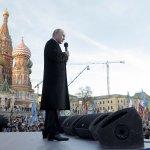 10萬人慶祝克島回歸1周年 普京高唱俄國國歌