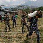 尼泊爾全國軍警人員百分之九十投入救災