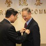 朱雲鵬獲專業獎章 保安基金董事長任滿不再續任