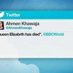 BBC記者搞烏龍 誤稱女王病逝