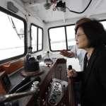 蔡英文華府搭船遊河:台灣就像一艘船,掌舵責任重大