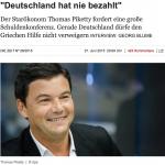 皮凱提談希債危機:德國最沒資格說話