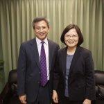蔡英文晤AIT處長梅健華:持續與美緊密溝通