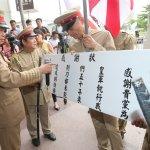 「感謝民進黨教育台灣皇民」白狼率「日本兵」衝黨部與警爆衝突