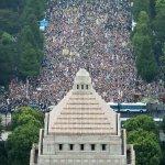 反新安保法 12萬人包圍日本國會、首相官邸