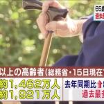 「團塊世代」已老 日本80歲以上者突破1000萬人