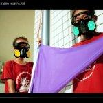 空汙紫旗升起 小朋友用行動自製面具抗議