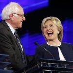 2016美國總統大選》民主黨候選人首場辯論 希拉蕊、桑德斯成焦點