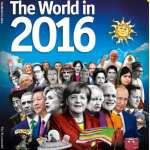 《經濟學人》2016年刊封面,赫見蔡英文與各國領導人並列