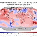 10月均溫高於平均值近1度 鄭明典:今年可能是全球最溫暖的一年