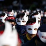 抗議蒙面就像IS?南韓4萬民眾蒙面示威抗議 控訴政府妨礙集會自由