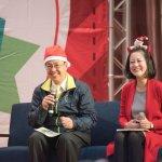 陳建仁變耶誕老人 呼籲支持「首都改革陣線」