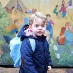 萌樣曝光!英國喬治小王子第一天上學 爸媽親自接送