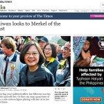 《泰晤士報》:蔡英文有望成為東方梅克爾