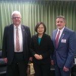 蔡英文接見美眾議員 推動TPP強化台美交流