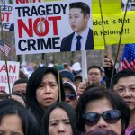美國華裔警察梁彼得案星火燎原!5萬人紐約街頭力挺梁