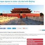布拉格與北京締姊妹市硬矮化台灣 外交部嚴正抗議